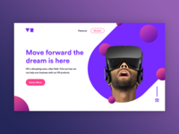 VR LANDING PAGE CONCEPT