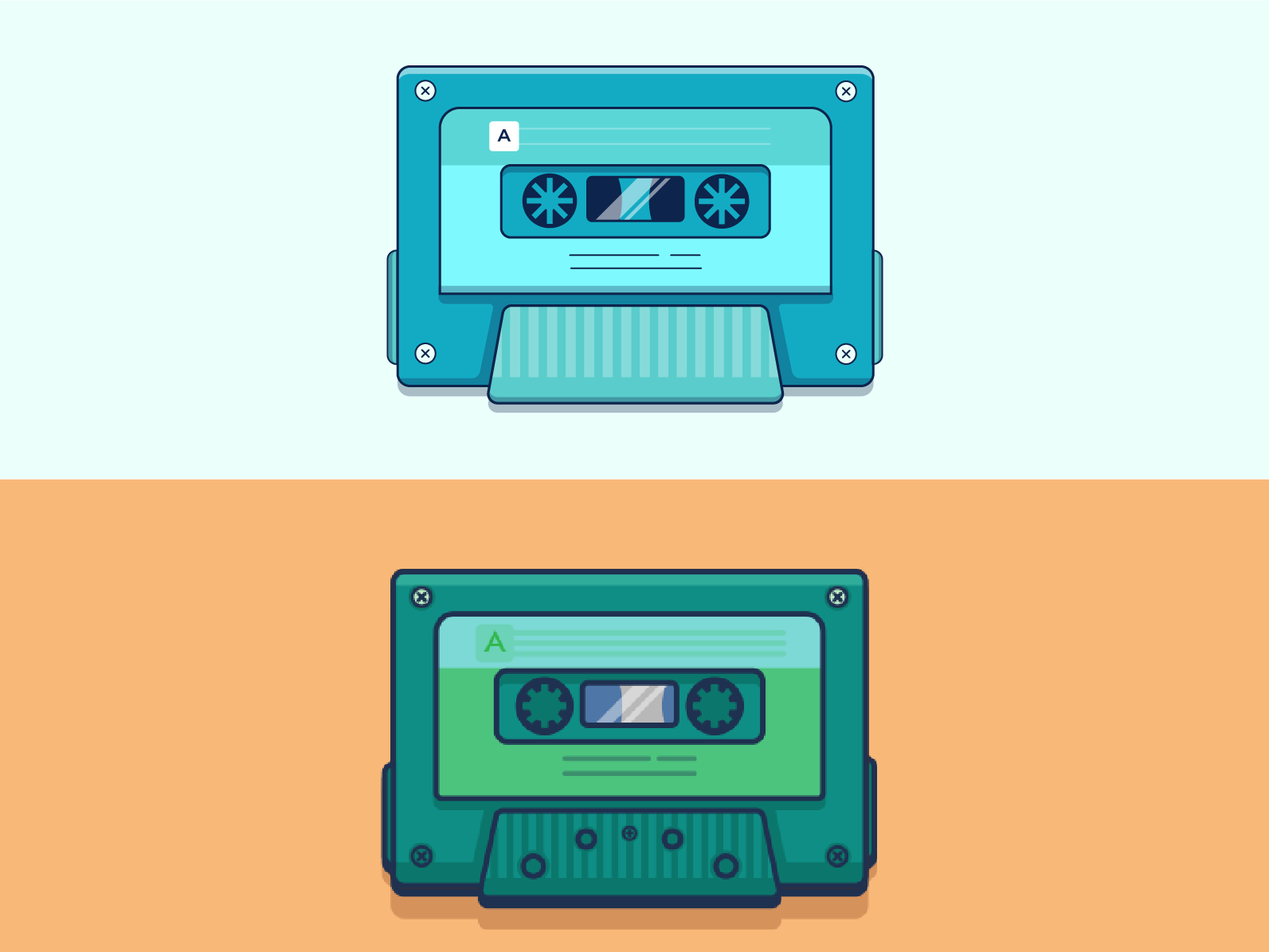 Vector Cassette Illustration illustrator cc illustrator flat illustration vector illustration vector art illustration
