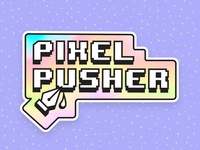 Pixel Pusher – Sticker Mule Holographic Rebound