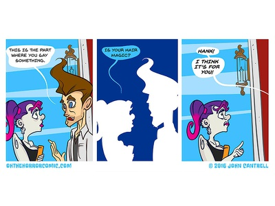 Oh The Horror illustration strip comic