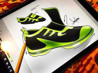 Running Shoe Design concept shoe design