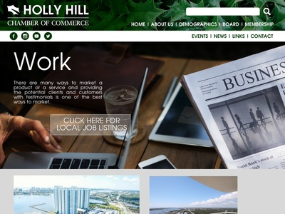 Holly Hill Chamber of Commerce Website Concept