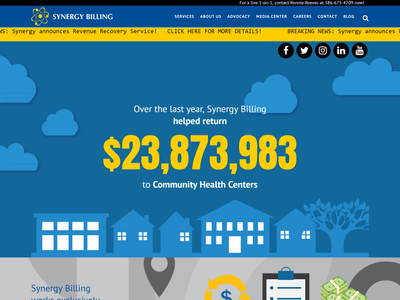 Synergy Billing website design