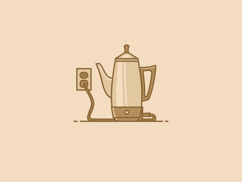 The Percolator k-cups brewing methods percolator vector illustration coffee