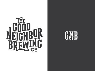 GNBCO lock up logo custom type vector illustration typography beer brewery