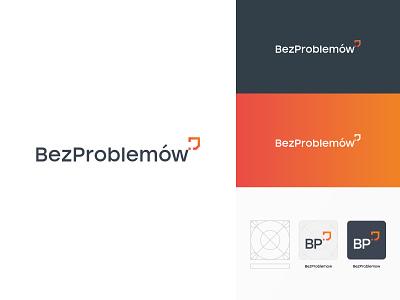 BezProblemow Logo corporate identity shield sygnet logo brand identity branding