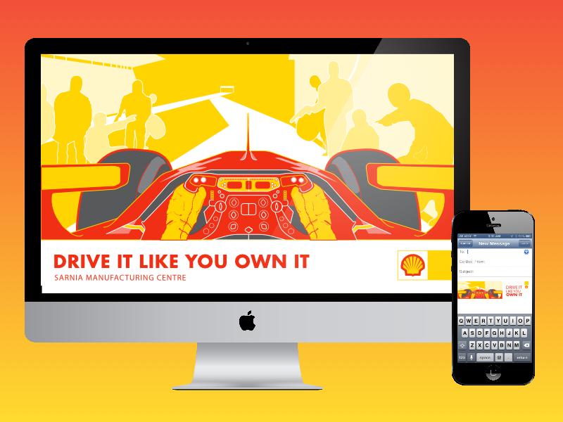Shell Presentation Material brand awareness branding design corporate design illustration presentation