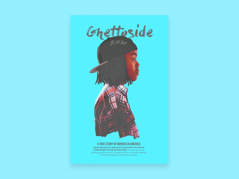 GhettoSide Book Cover design graphic design bookcover design bookcover poster design poster