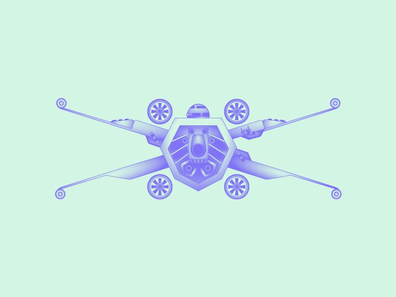 Typehue X r2d2 x-wing star wars typography weekly type challenge design color design challenge x typehue