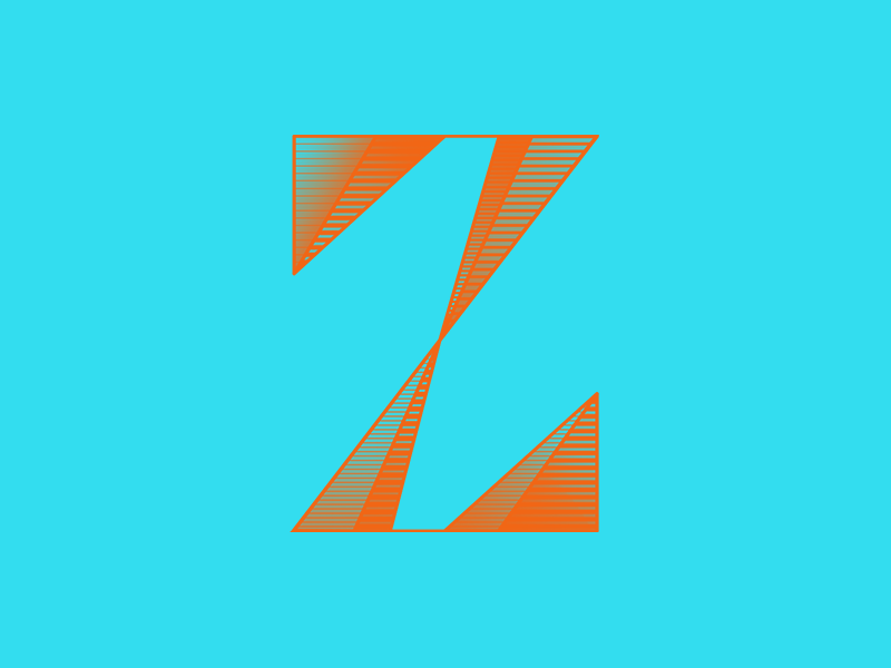 Typehue Z letter typography weekly type challenge design color design challenge z typehue