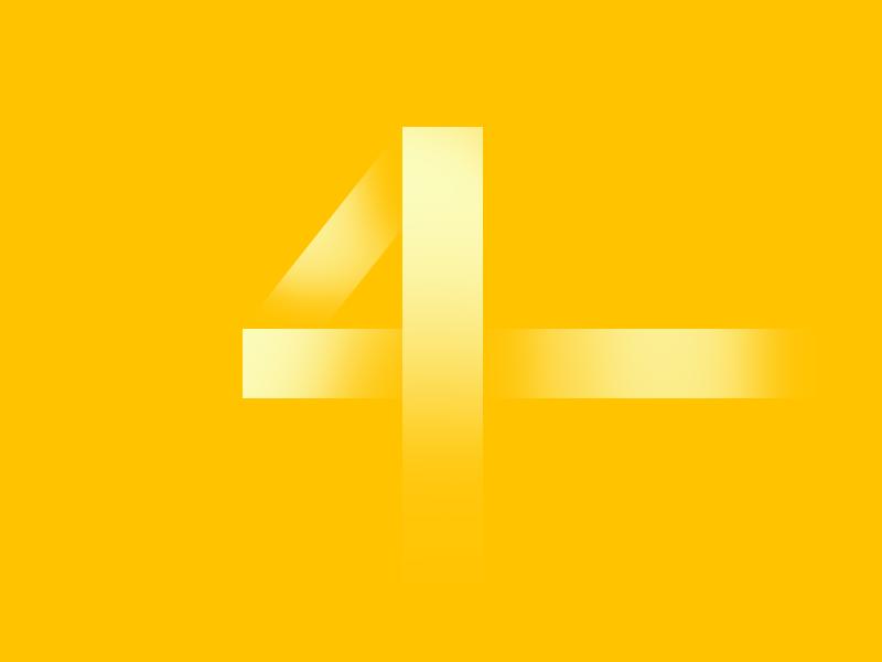 Typehue 4 typehue 4 four design challenge design challenge color type weekly typography letter number