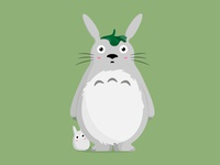 Totoro & Tiny Totoro character vector illustrator illustration design color totoro