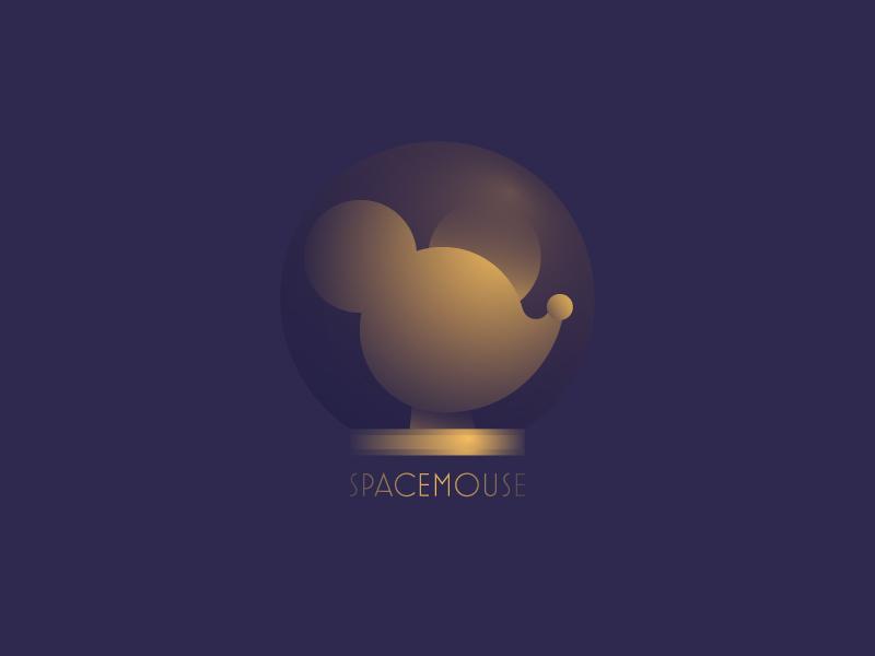 SpaceMouse #Typehue Brandom logo astronaut gradients mouse typehue challenge typehue space