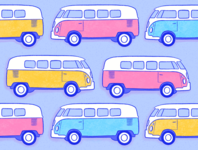 Van Pattern freelance illustrator freelance design art licensing pastel colors vans van life pattern observer spoonflower pattern art patterns procreate art procreate illustration procreate drawing procreate illustration hand drawn bardot brush
