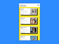 Local Coffee Review App – Newsfeed Design