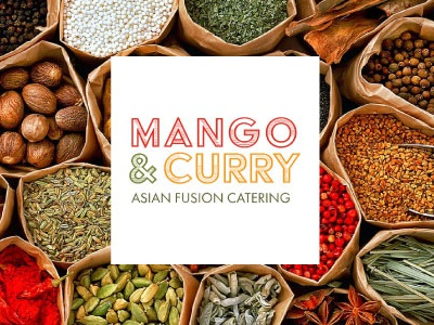 Mango and Curry Catering branding