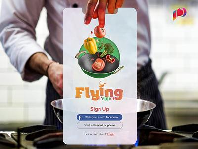 Food Ordering App clean recipe app recipe minimal minimalist ux cooking udaipur cooking app designfoodie iosapp uimobile fast food food app app mobile clean design