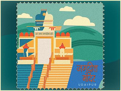 Jagdish Mandir adobe illustrator indian temple rajatshan temple udaipur vector graphic design photoshop illustration rajasthan