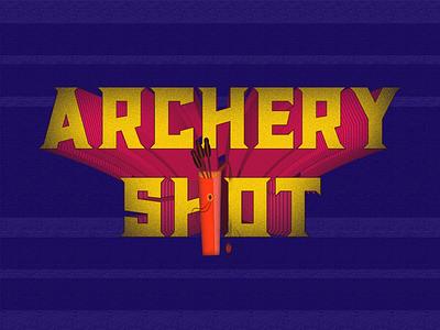 Archery Shot-Arcade udaipur graphic design vector illustration logo video game retro game