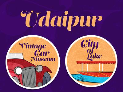Udaipur Sticker graphic world sticker design vector graphic design illustration photoshop udaipur city udaipur city