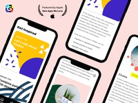 Grideo articles tab + detail screen 🥳🎉 shape shapes cancel design app grid design template apple buttons cards collage grid article articles iphone x figma iphonexs ui ios app design