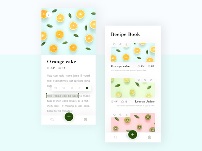 Own Recipe Book edit profile selected select button add search bar recipebook recipeapp recipe bookapp book typography ui search iphone x ios app design