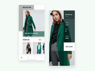 E- commerce Asos app productscreen homescreen tabbar fashion app fashion ecommerce photos button typography ui app concept search iphone x ios app design