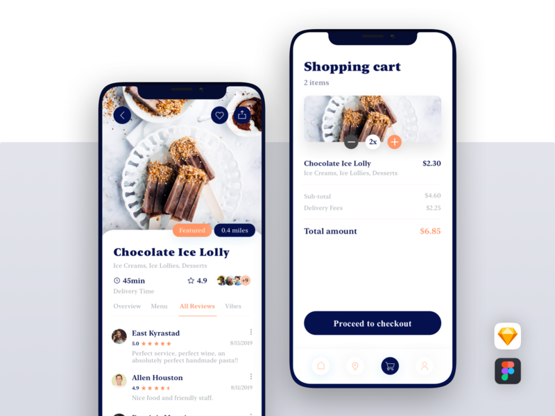 Swify delivery app ui kit figma sketch shoppingcart review newyork map ui8net uikit button uiux search ui design ios delivery iphonexs app concept ui8 app design