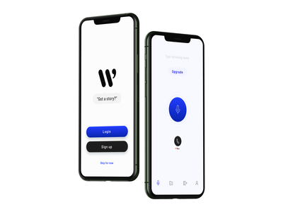 360 Writer - Audio Recorder trim writers tool recorder upgrade tabbar buttons icons sketchapp sketch record recording figma iphonexs button ui search ios app design