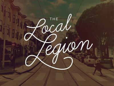 The Local Legion lettering logo