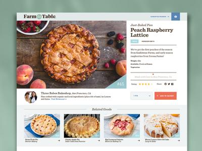 Farm to Table E-commerce Exploration e-commerce farm baked goods site