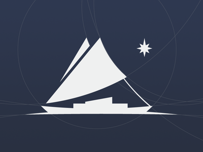 Logomark boat logo geometry geometric star