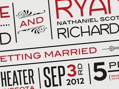 Wedding Invitation wedding invitation red habana print