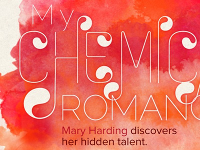 My Chemical Romance orange zag watercolor typography editorial