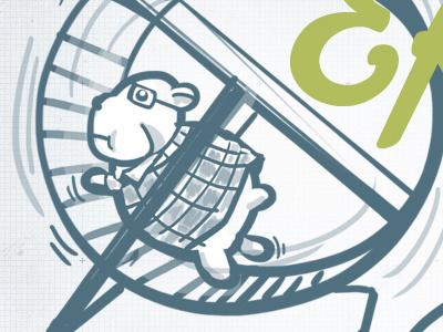 AEA Deck w/ Garrett Miller's Illustrations illustration garrett miller heyitsgarrett hamster wheel