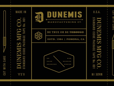 DUNEMIS packaging tape concept. design packaging