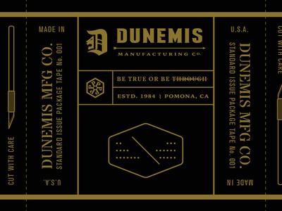 DUNEMIS packaging tape concept.
