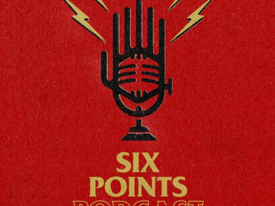 Six Points Podcast logo icon design branding logo graphic