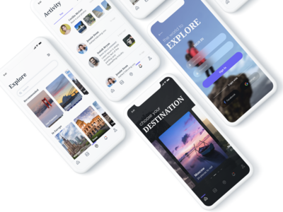 Explore- A tour guide app UI kit design