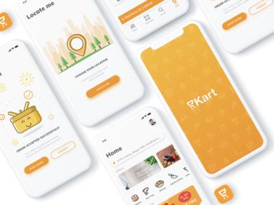 eKart - Online Grocery app design