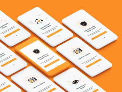 App Walkthrough Screens design