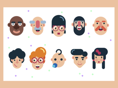 Character Faces Illustrations