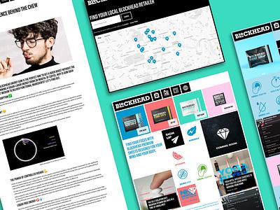 Blockhead -  Ecommerce Site website webflow web design and development web design web branding design