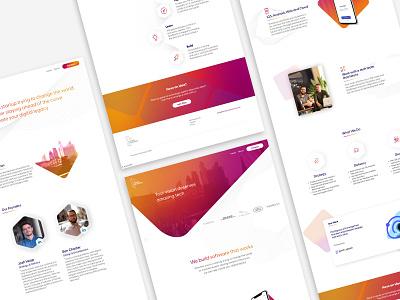 London Tech Works Website Build startup website webflow web design and development web design web design