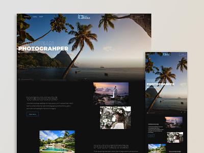 Photography website with mobile logo branding website webflow web design and development web design web design