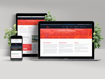 Responsive Web Design for KLR Industries Ltd responsive website ui ux website design web design