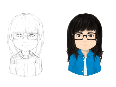 From Inception to Completion - New Avatar art selfie sketch paint icon vector illustration avatar