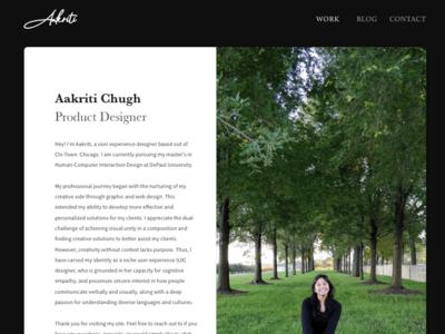 Portfolio Redesign photograhy nature user center design designer design ux portfolio typography ui