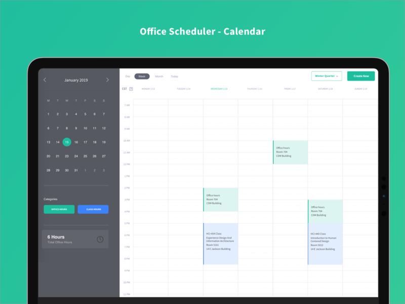 Office Scheduler - Calendar