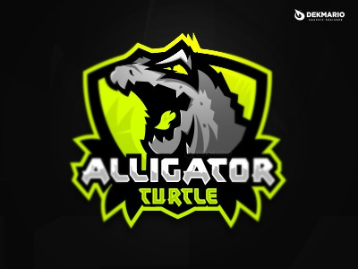 Alligator Turtle alligator sports sport mascot logotype logo identity gaming esports design turtle branding